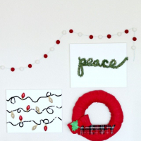 Bake Craft Sew Decorate: Easy Christmas Canvas Art