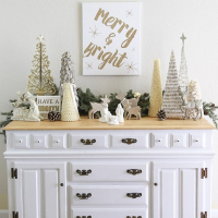 Bake Craft Sew Decorate: DIY Christmas Canvas