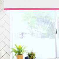 DIY Easy Upholstered Window Valance