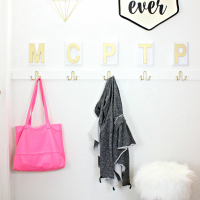 Personalized Faux Mudroom