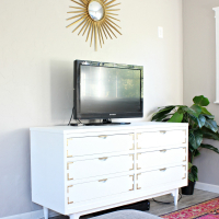 How to paint a dresser (inside the house!)