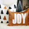 Bake Craft Sew Decorate: Faux Leather Christmas Pillow