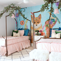 Modern Ranch House: Girls Bedroom Makeover