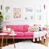 Modern Ranch Reno: The Perfect Sofa for my Office