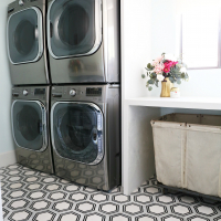 Modern Ranch House: Laundry Room Reno Part 3 Flooring