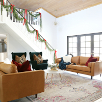 Modern Ranch Reno: My new Article Leather Sofas