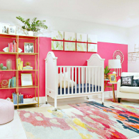 Modern Ranch Reno: Colorful Baby Girl Nursery