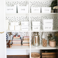 Household Closet Organization and Labels