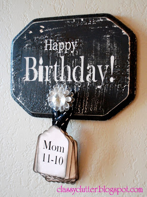Happy Birthday Reminder Board - www.classyclutter.net