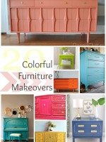 20 Colorful Furniture Makeovers