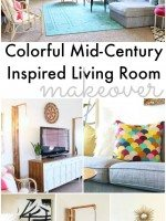 Colorful Mid Century Glam Living Rooms