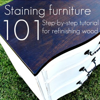 Staining furniture 101 - a tutorial for beginners! | www.classyclutter.net