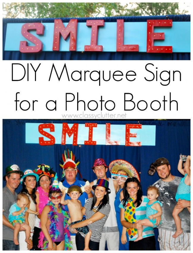DIY Marquee Photo Booth Sign