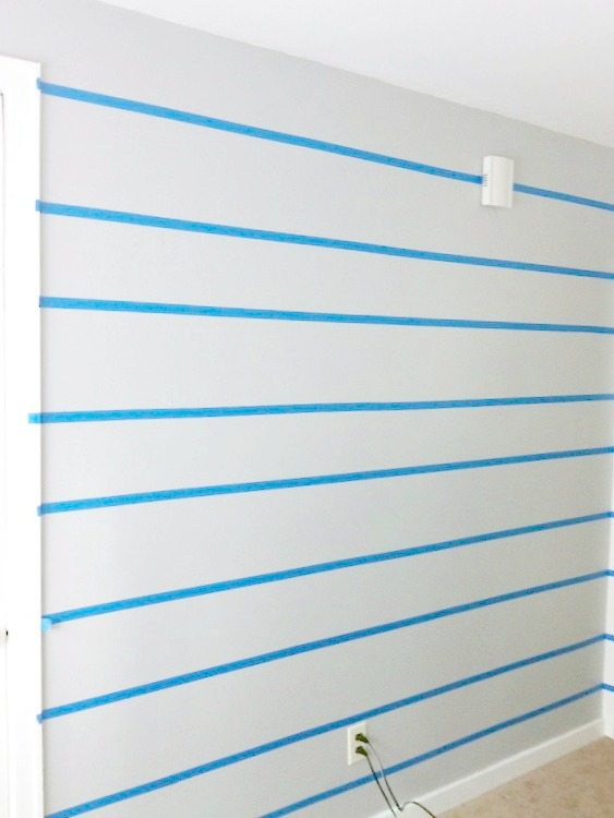 How to paint stripes on a wall and tape off stripes