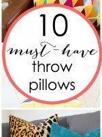 10 Must HaveThrow Pillows