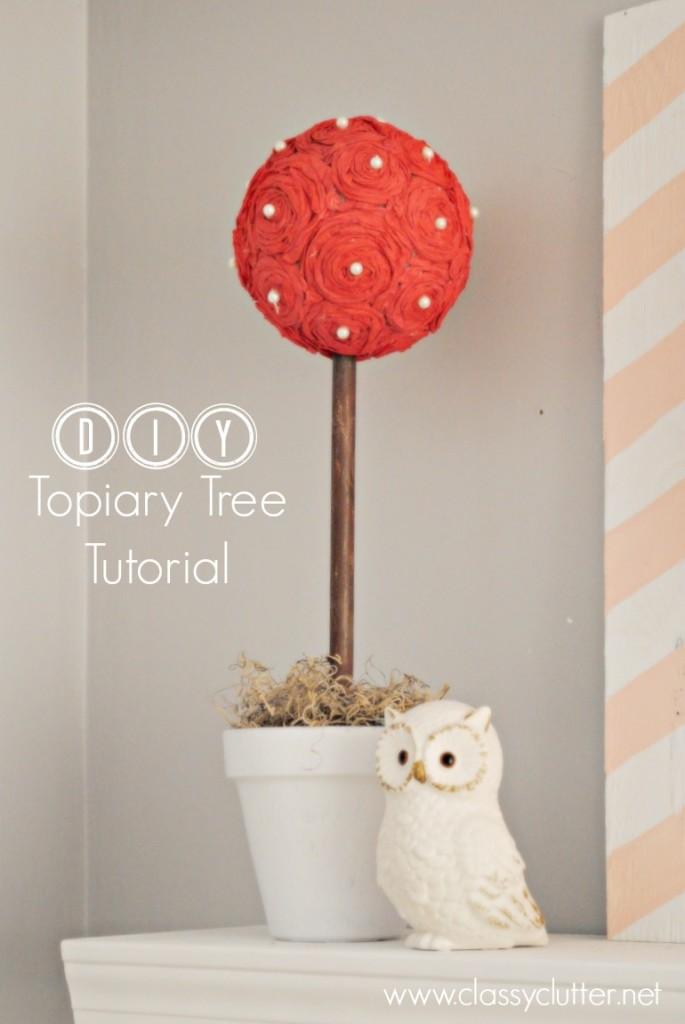 DIY Topiary Tree Tutorial