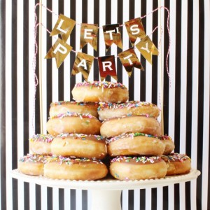 I am totally in love with this doughnut tower we…