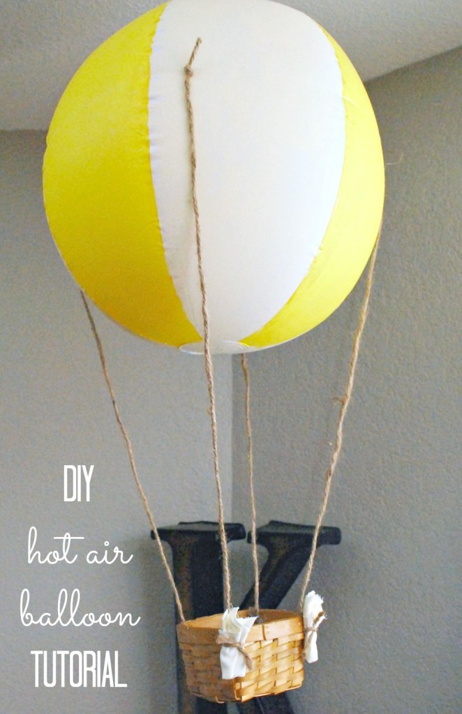 DIY Hot Air Balloon tutorial