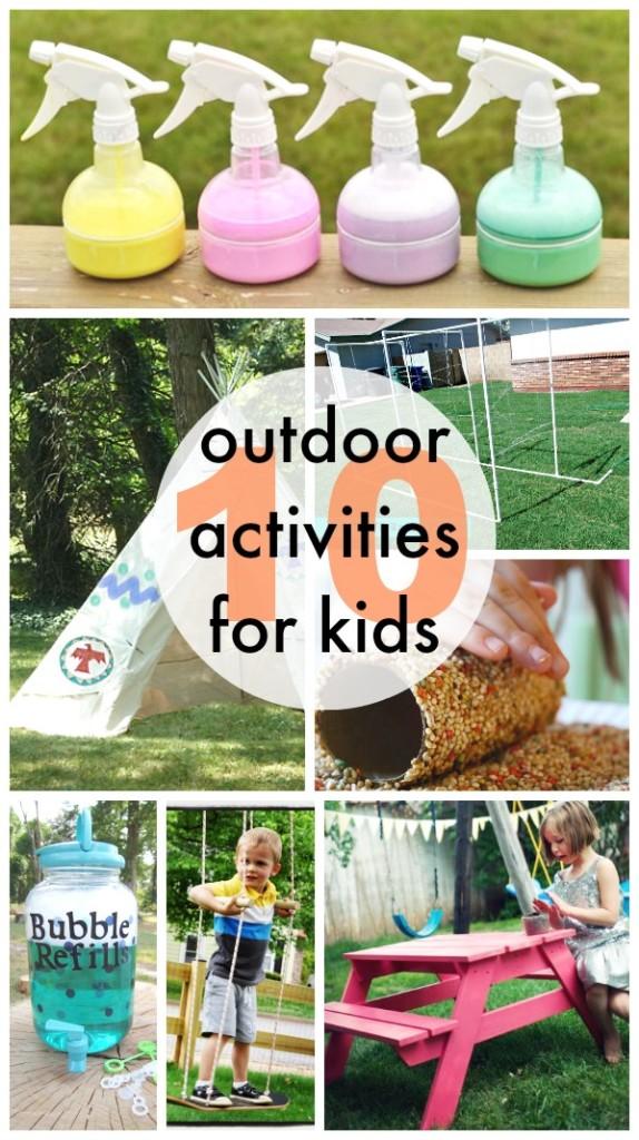 10 Outdoor Activities for Kids - www.classyclutter.net