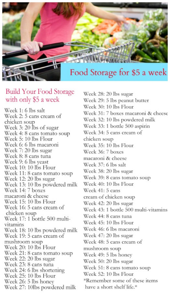 Build your food storage for $5 per week