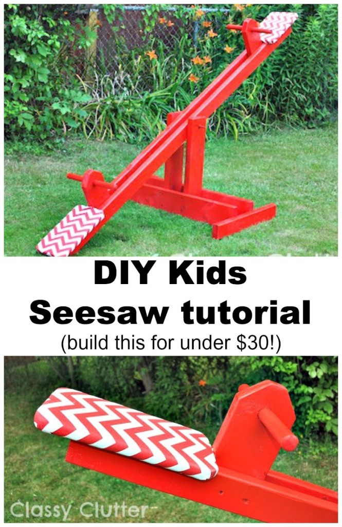 EASY DIY Seesaw Tutorial For Kids