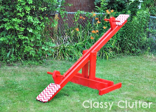 Diy kids seesaw for under 30 classy clutter diy kids seesaw for under 30 solutioingenieria Images