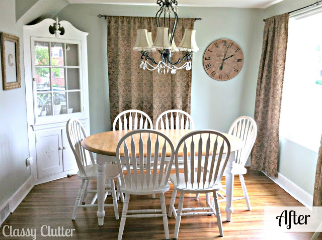 Adorable dining room and dining set makeover classy clutter for Dining room update ideas