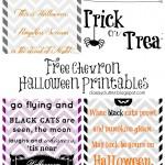 Chevron Halloween Printables