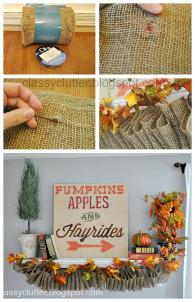 DIY Ruffled Burlap Garland