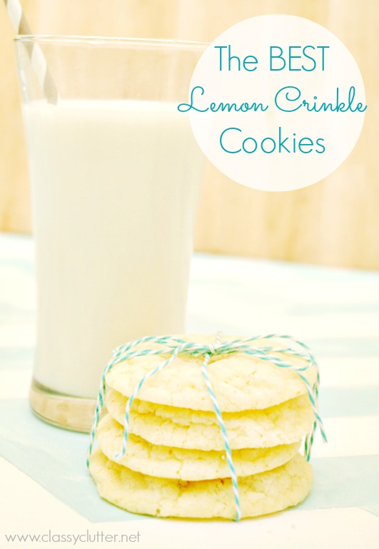 The BEST lemon crinkle cookies