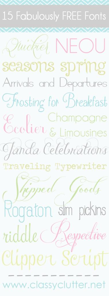 15 Fab FREE fonts
