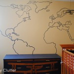 DIY Painted Map Mural