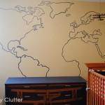 DIY Painted Map Mural