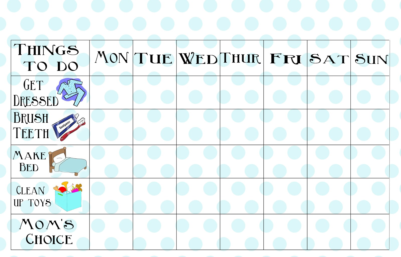 graphic about Printable Chores Chart referred to as Cost-free Printable Chore Chart