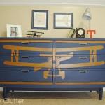 Stenciled Biplane Dresser