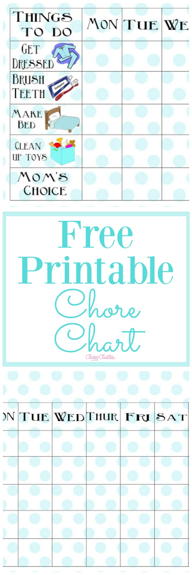 picture relating to Printable Job Chart identify Free of charge Printable Chore Chart