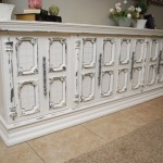 Grey and White Ornate Console