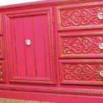 Sassy Pink and Gold Dresser