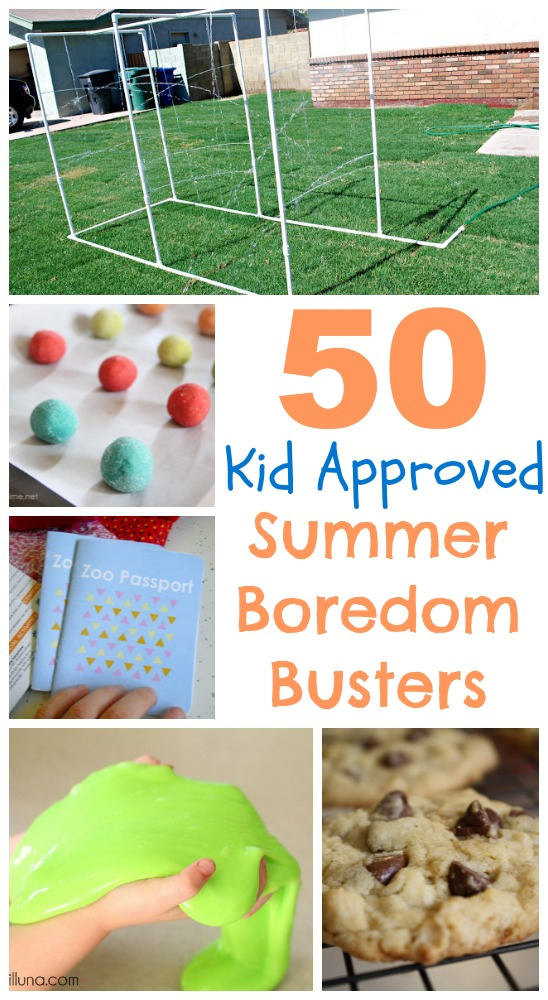 50 summer boredom busters with text