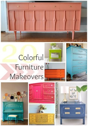 Colorful Furniture Makeovers