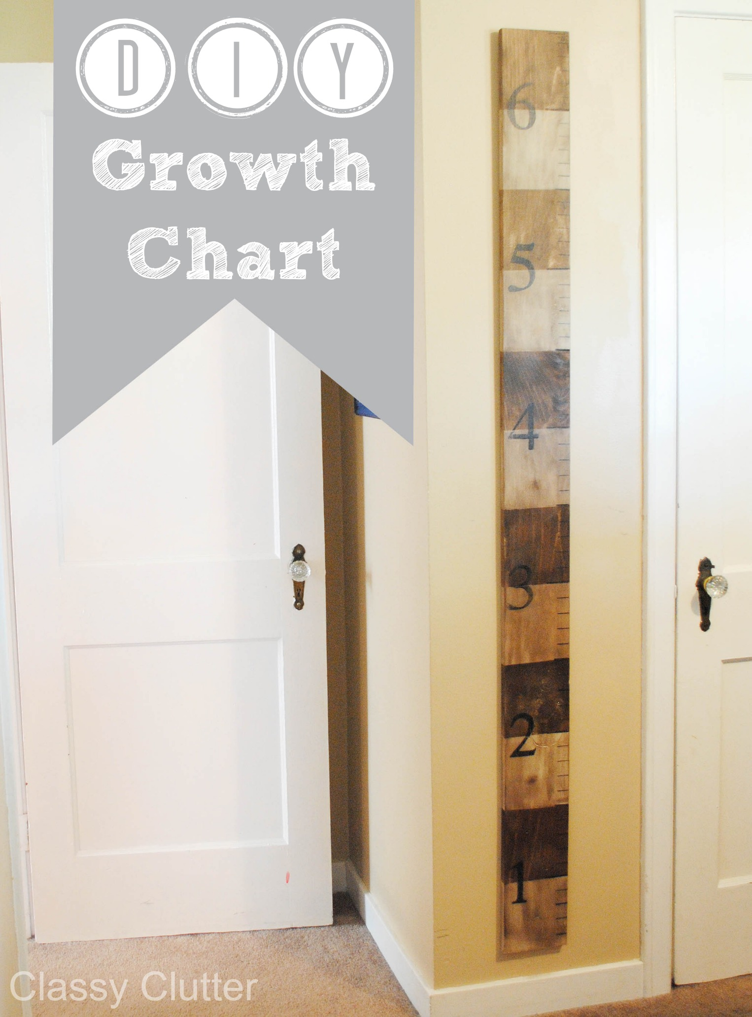 Diy Wooden Growth Chart Tutorial Classy Clutter