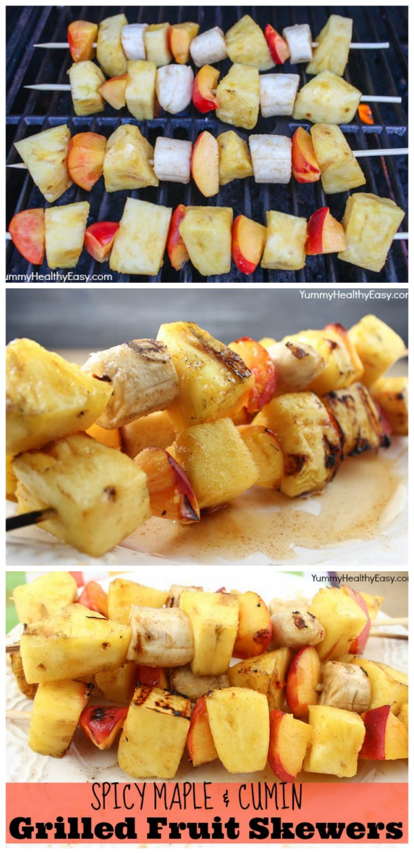 Spicy Cumin and Maple Grilled Fruit Skewers | www.classyclutter.net