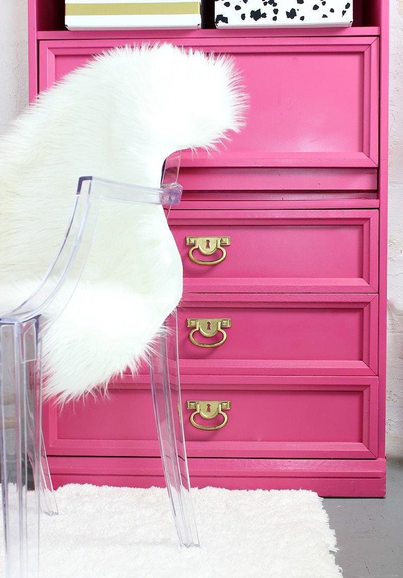 pink us bookcase cottage dollhouse d en
