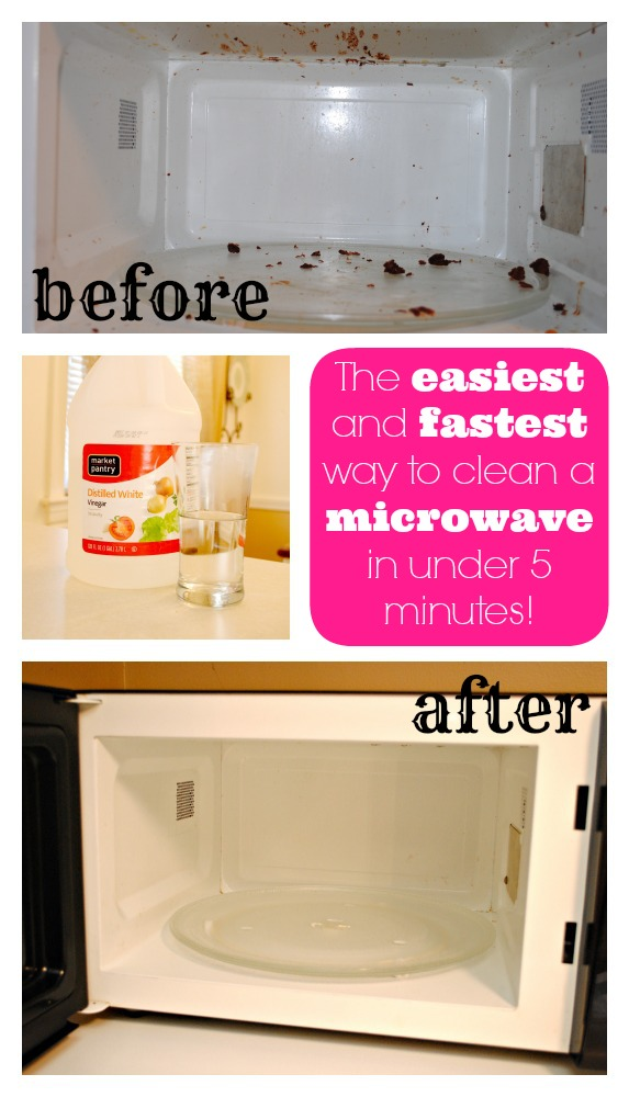 clean microwave collage