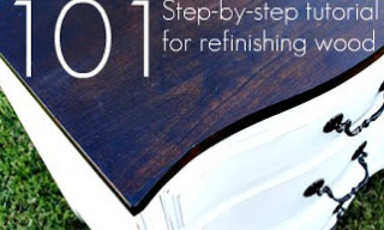 How to stain and refinish wood