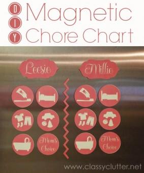 DIY Magnetic Chore Charts