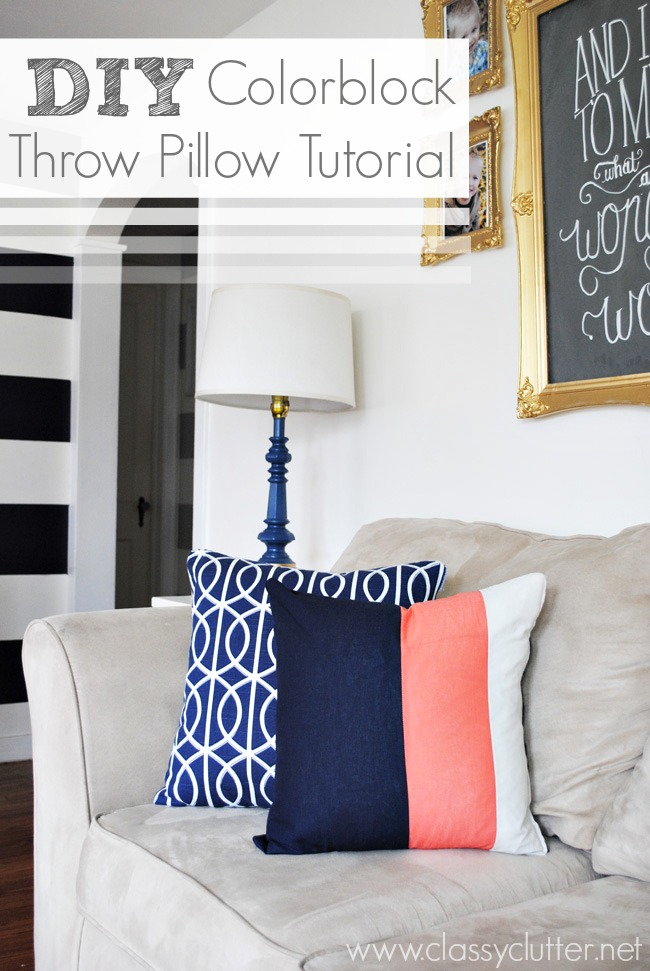 DIY Colorblock Pillow