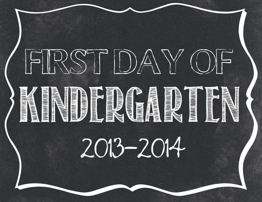 This is an image of Candid First Day of School Free Printable