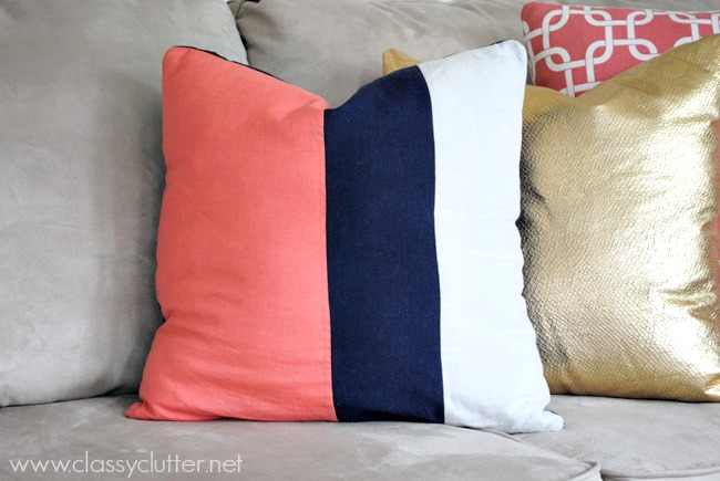 Diy throw pillow ideas classy clutter