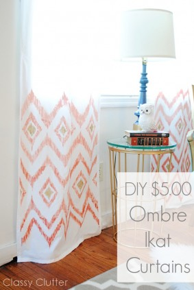 DIY $5 Ombre Ikat Curtains